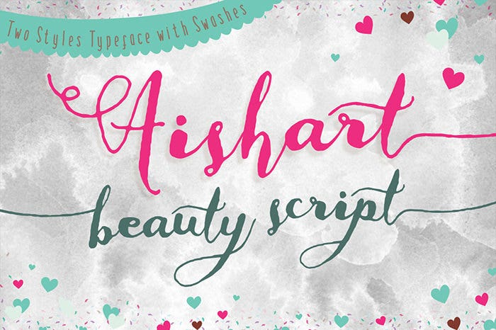 Modern Calligraphy Typeface