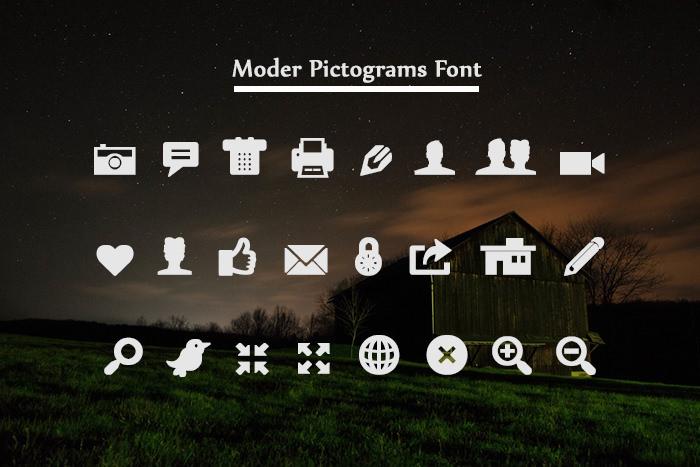 Modern Pictogram Font