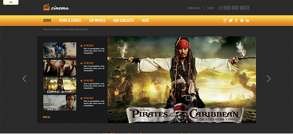 movie responsive joomla template1