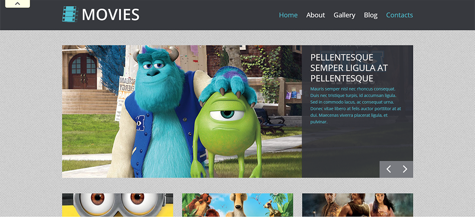 movie responsive wordpress theme eye cartoon