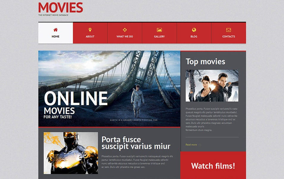 Movie WordPress Theme online
