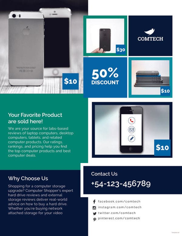 multi purpose product promotional flyer template