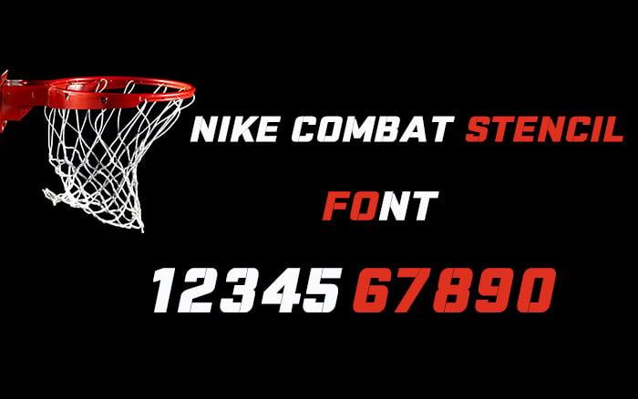 nike combat stencil font