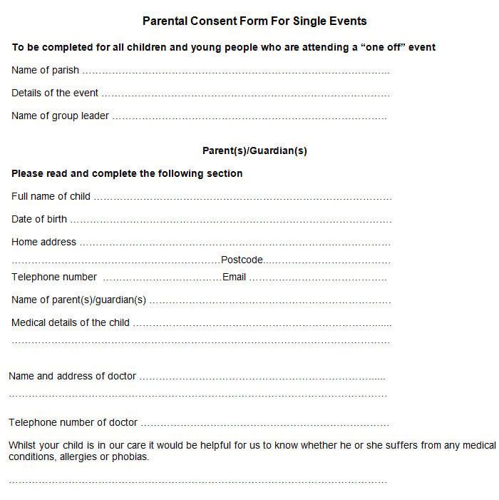 Parent consent form template sample parental consent form free premium templates altavistaventures Gallery