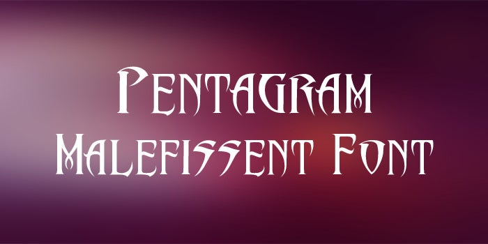 pentagrams malefissent font