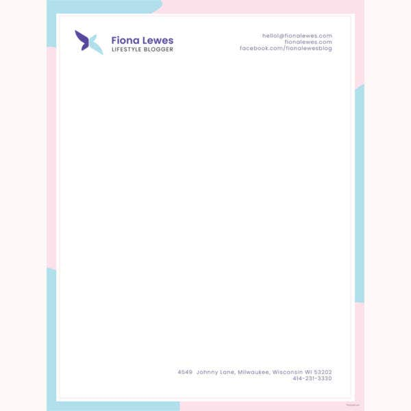 32 professional letterhead templates free sample for Free letterhead templates for mac