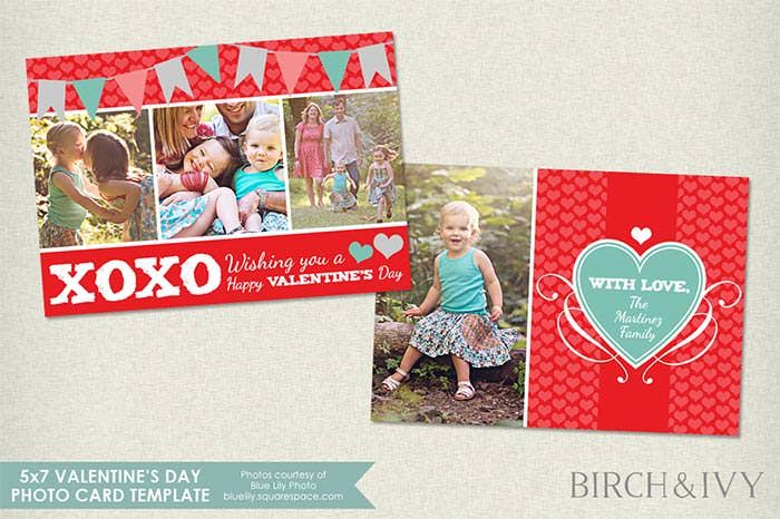 photo card template for valentines day