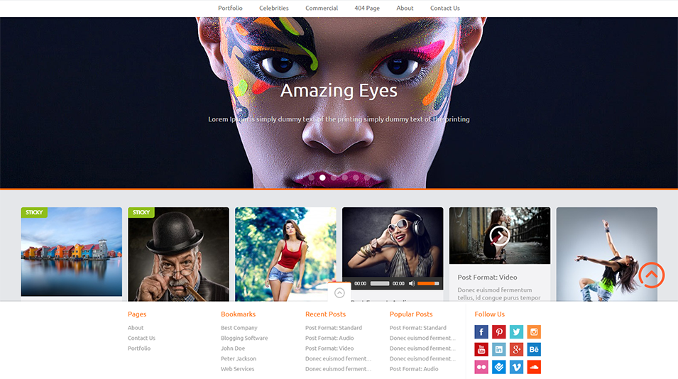 pinthis pinterest style wordpress theme
