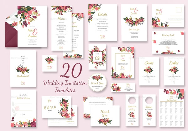 Traditional Wedding Invitation Templates: Traditional Wedding Invitations