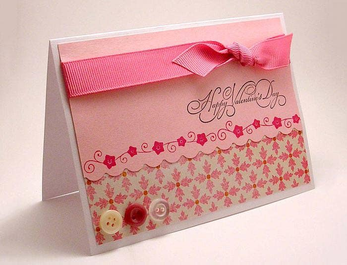 pink happy valentines day cards handmade