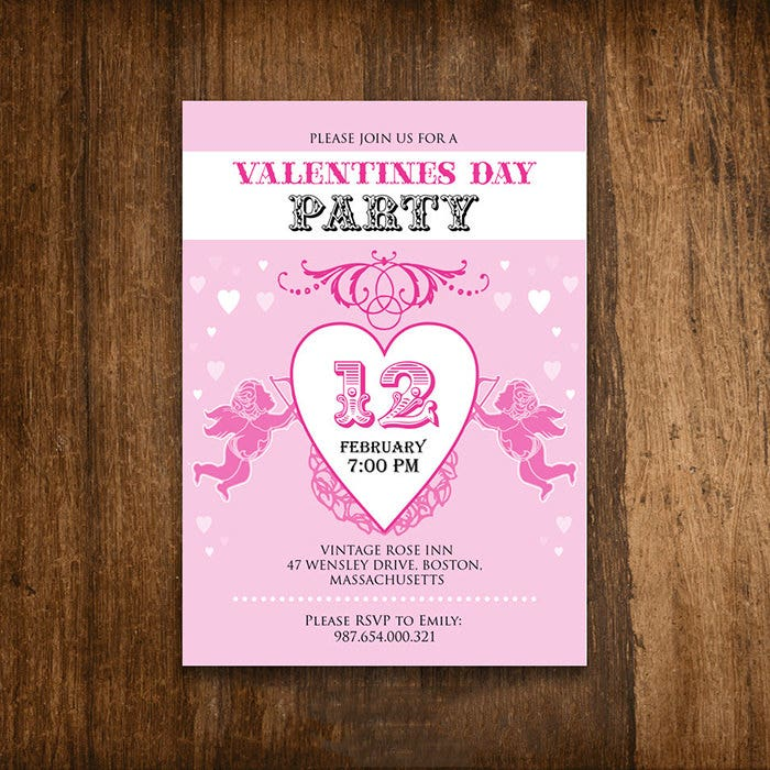 Best Valentine Invitation Templates For Free Premium - Valentine's day invitation template