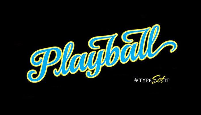 playball font11