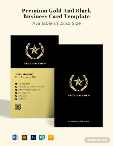 premium gold and black business card template