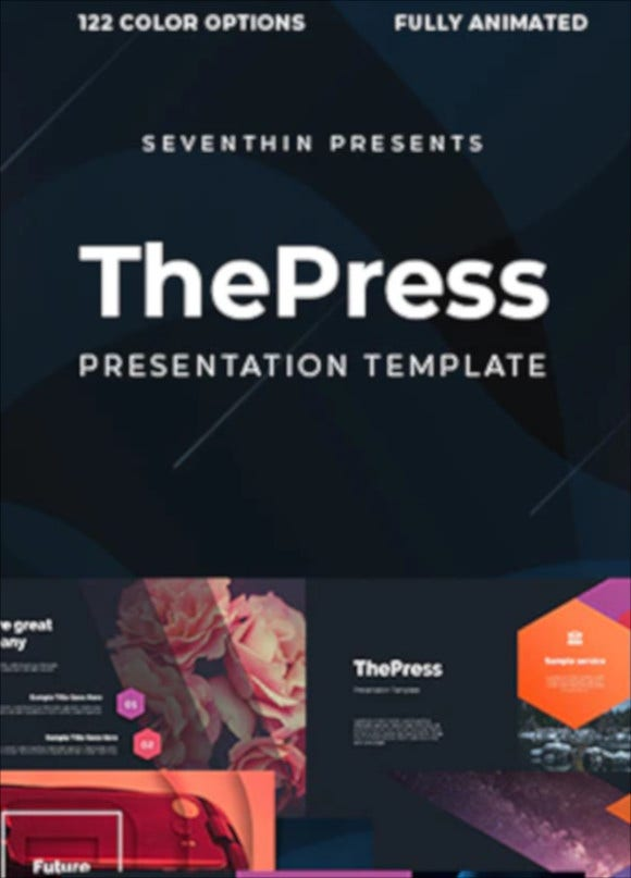 press animated powerpoint template