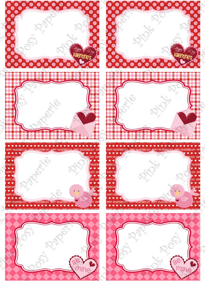 printable valentine food labels - Valentine Templates Printable