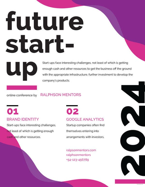 professional future startup flyer template