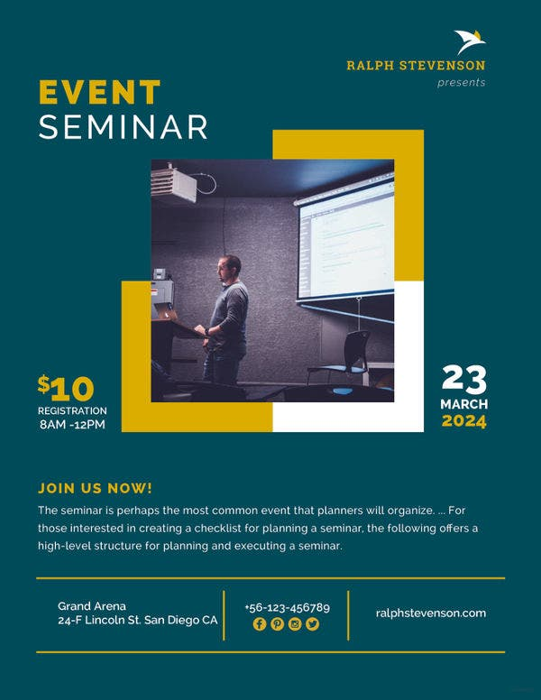 professional seminar flyer template