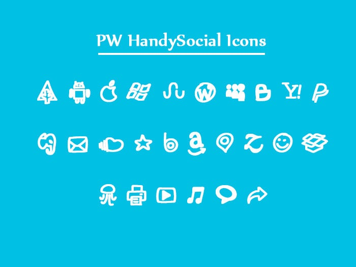 Handy Social Icon Fonts
