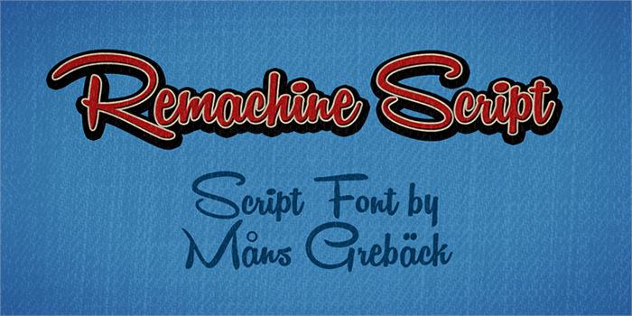 remachine script personal use font