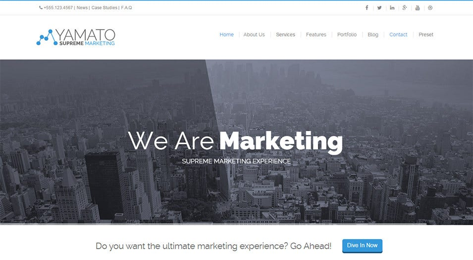 Responsive Marketing Drupal Theme
