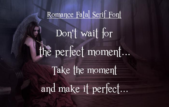 Romance Fata Serif Font