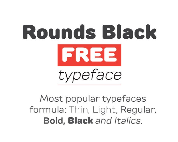 Rounds Font Family