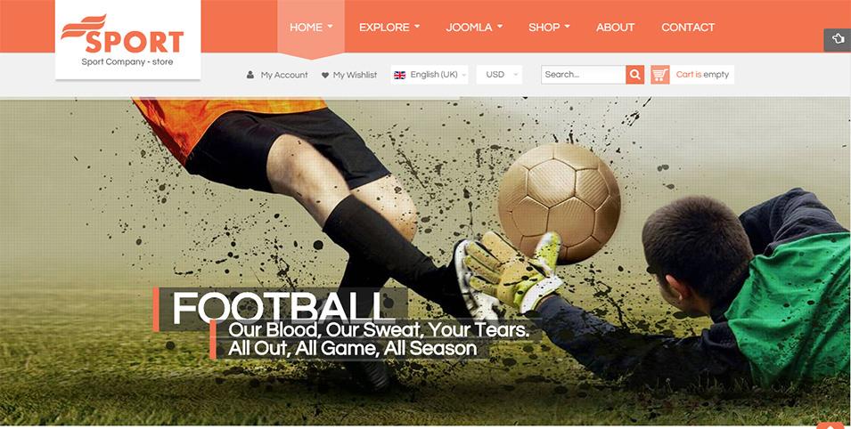Football team web template.