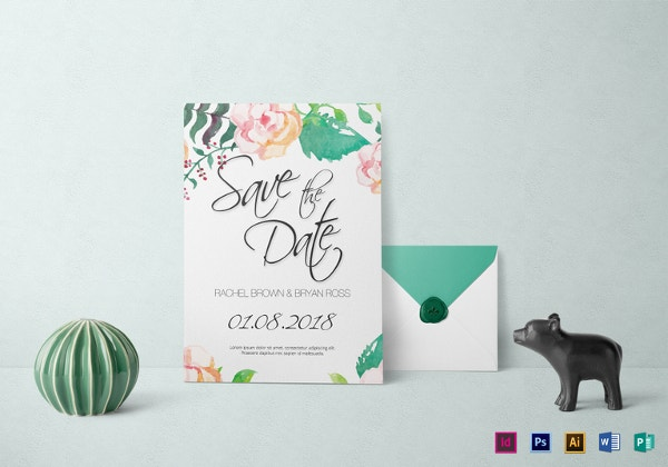 sample watercolor wedding invitation template