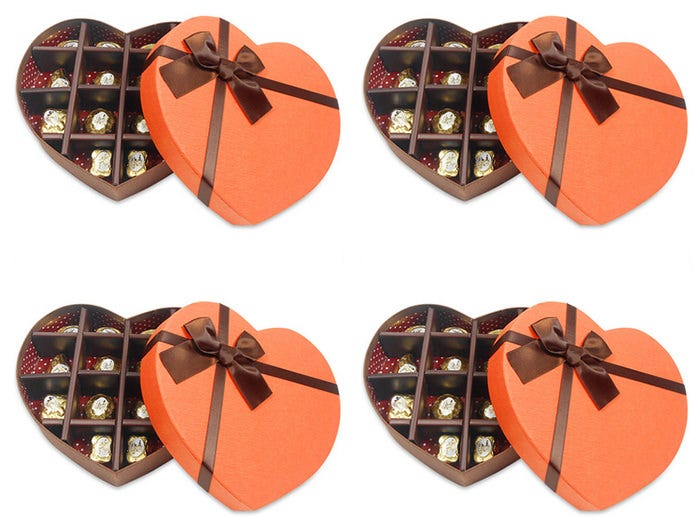 scrumptious heart chocolate box