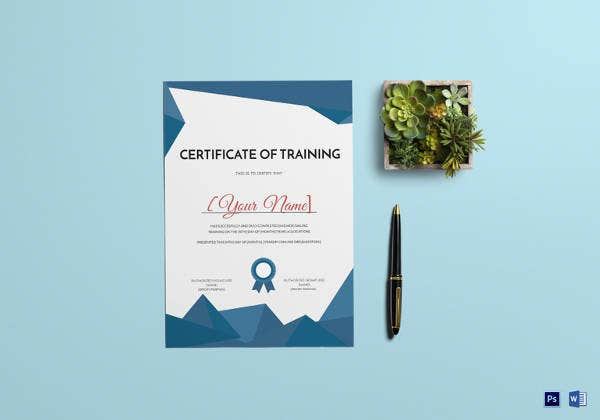 simple training certificate template