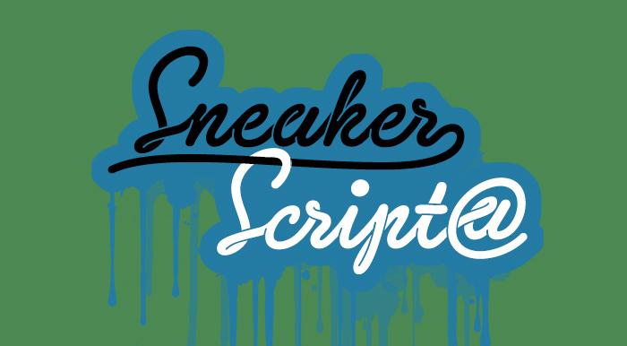 sneaker script cursive font