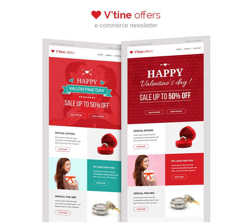 15+ Best Valentines Emails, Newsletter Templates | Free & Premium