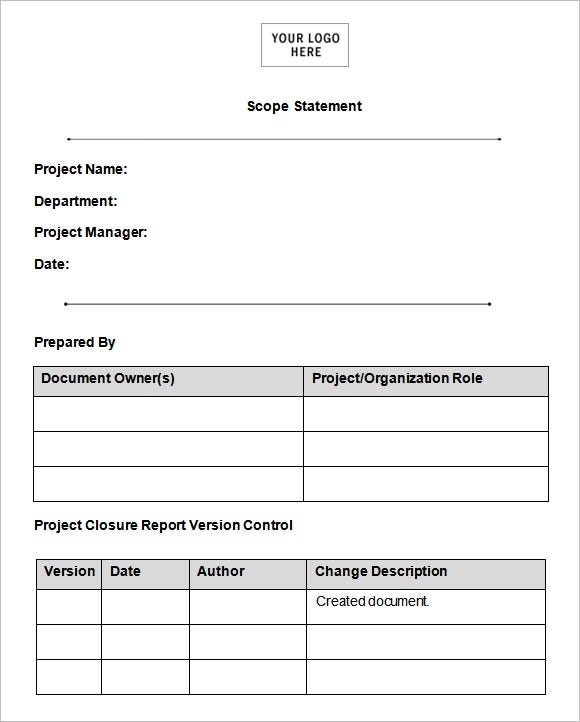 Statements of Work Templates Free Statement of Work Template For