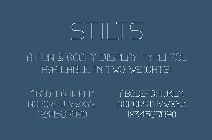 stilts web display font