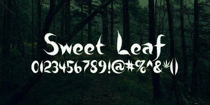 sweet leaf font2