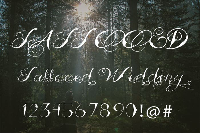 tattooed wedding font