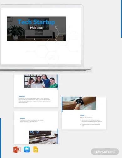 tech startup pitch deck template