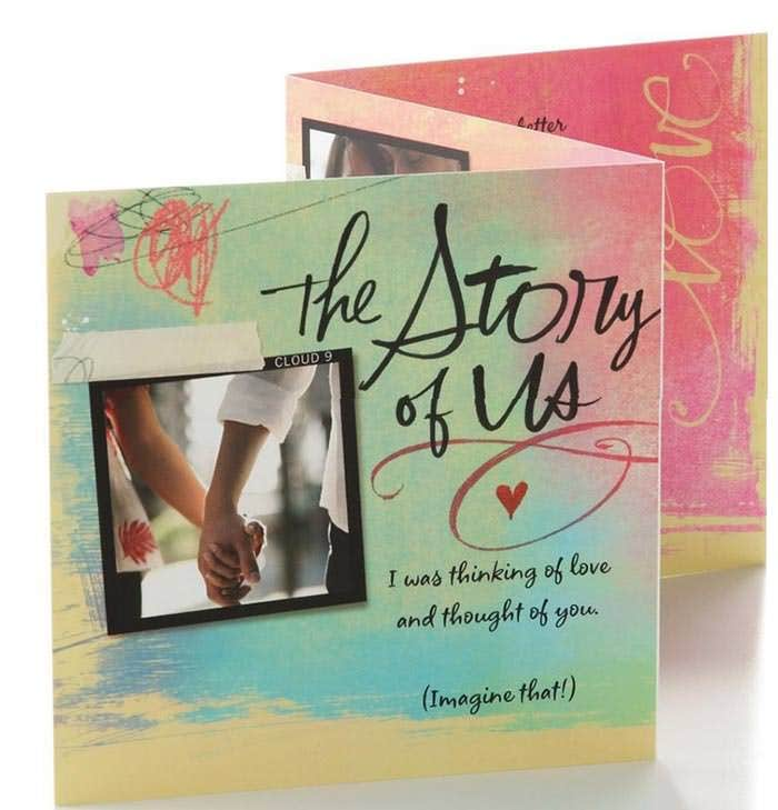 the story of us valentine day card