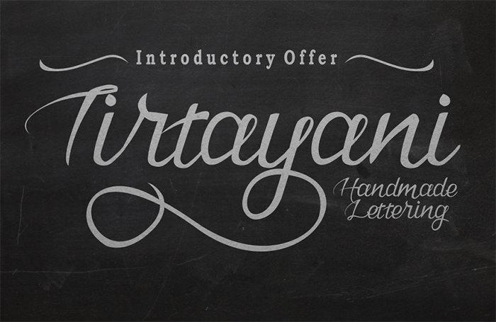 tirtayani handmade lettering