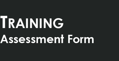 training assessment form template