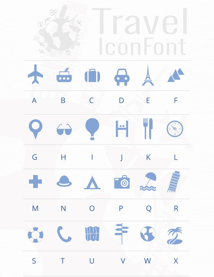 Travel-Icon-Font-Preview-Image