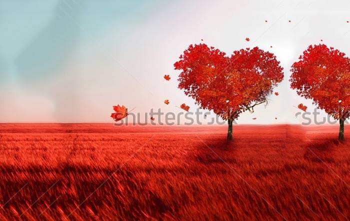tree of love happy valentines day background