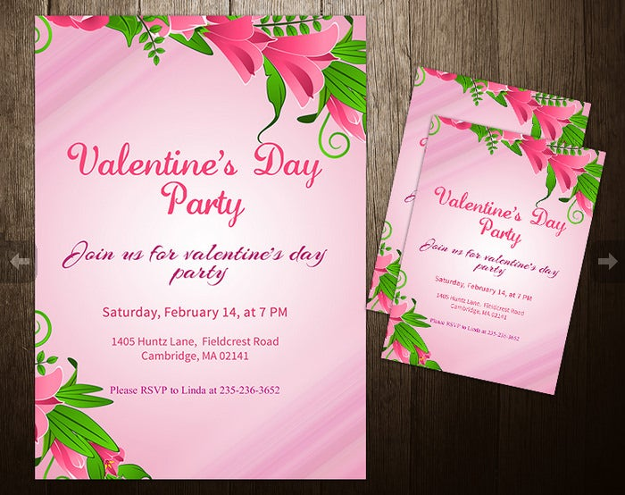 valentine splash invitation template