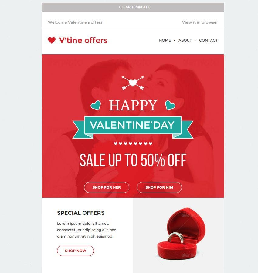 15+ Best Valentines Emails, Newsletter Templates | Free ...