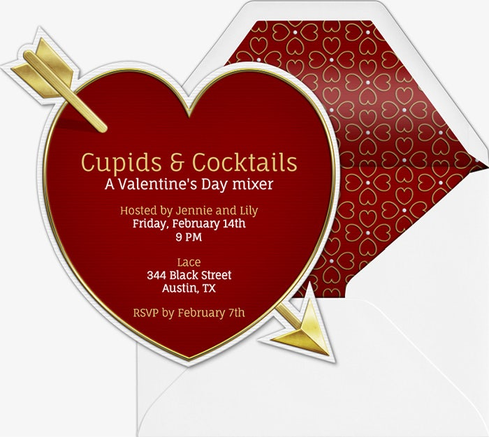 valentine invitation design template