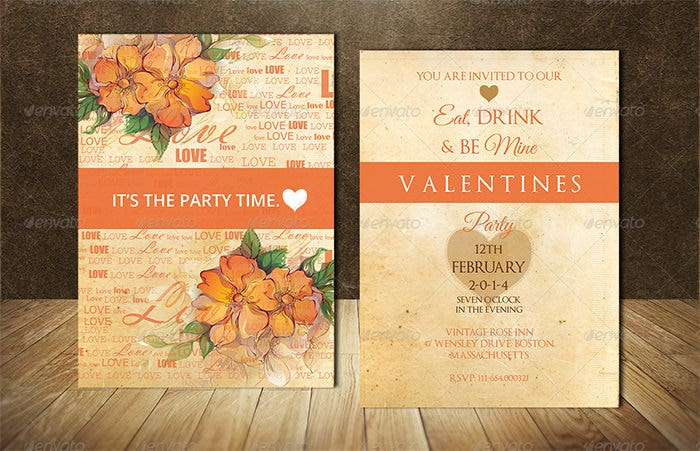 valentine party invitation 2