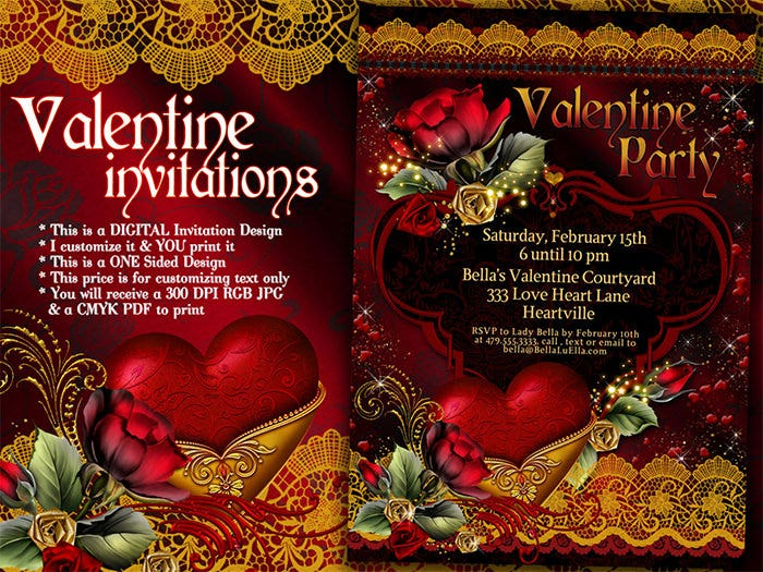 22  best valentine invitation templates