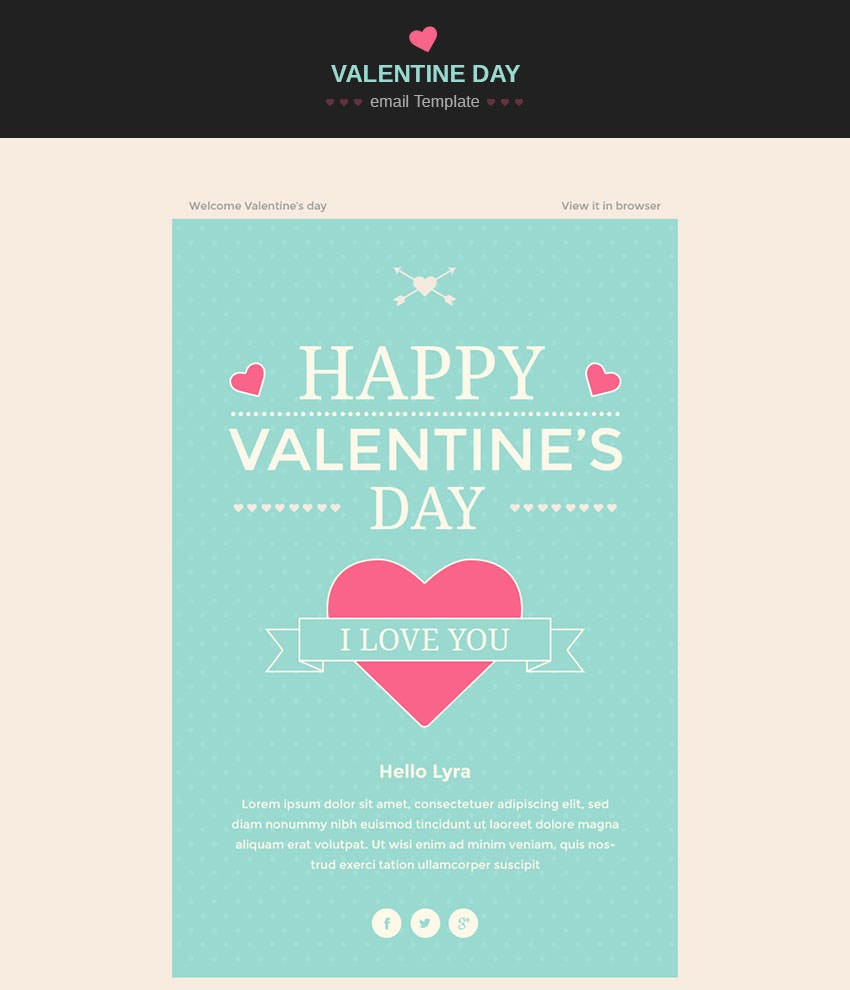 valentine wishesh email template