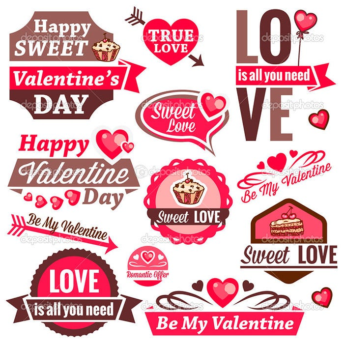 valentine day set