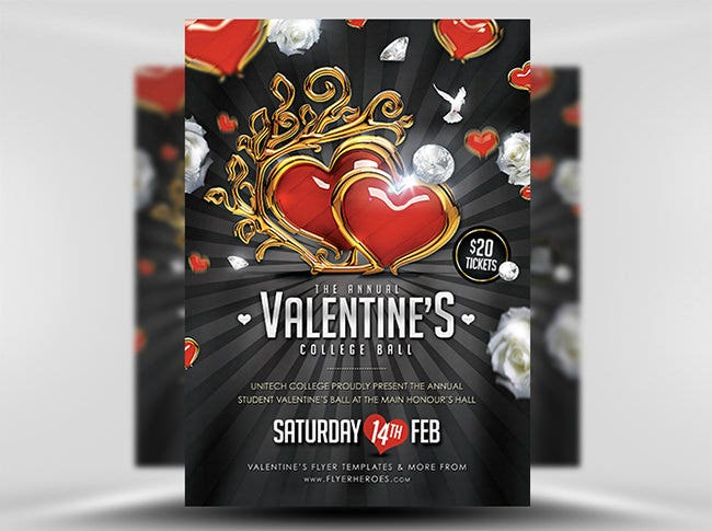 valentines ball flyer template